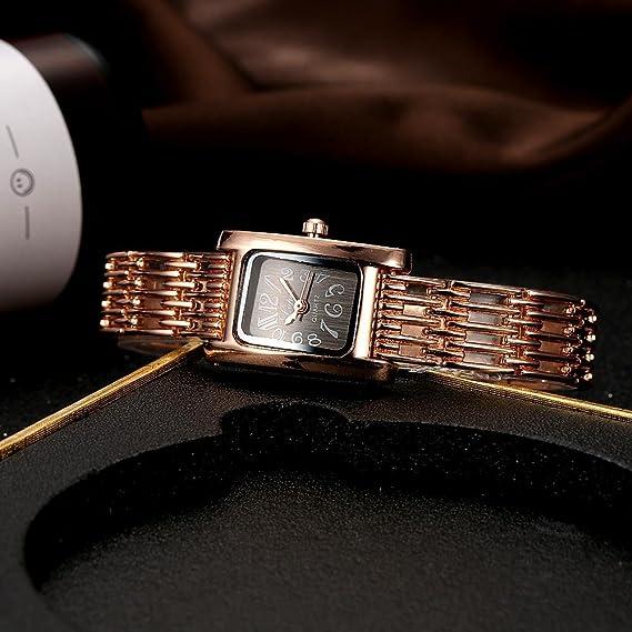 Reloj de Pulsera de Reloj de Correa de Caja de Aleación de Reloj de Cuarzo para Mujer(b): Amazon.es: Belleza