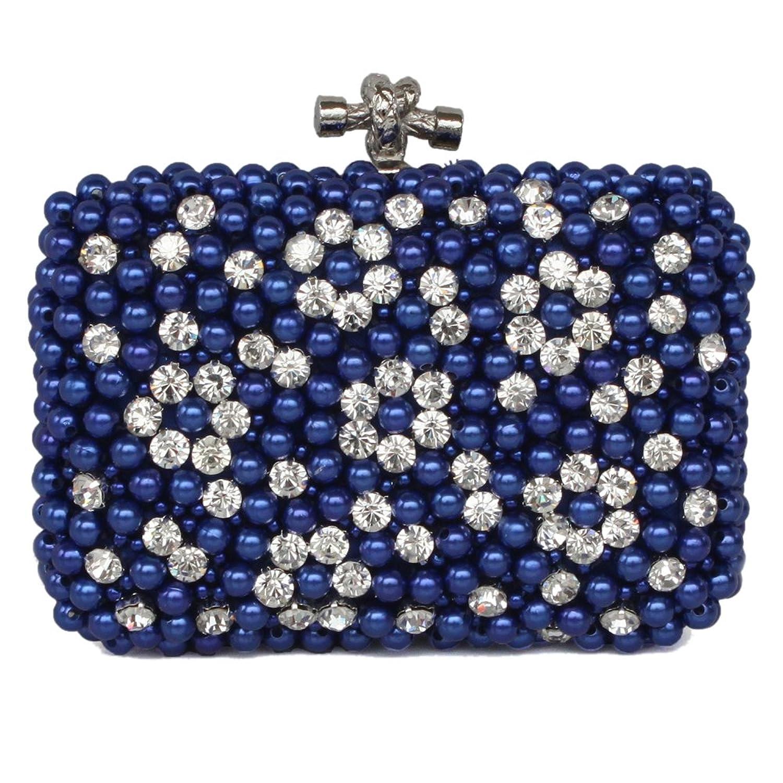 Your Gallery Women's Bling Rhinestone Bead Flower Minaudiere Case Evening Clutch