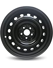 Road Ready Car Wheel For 2009-2019 Toyota Corolla 16 Inch 5 Lug Black Steel Rim Fits R16 Tire - Exact OEM Replacement - Full-Size Spare