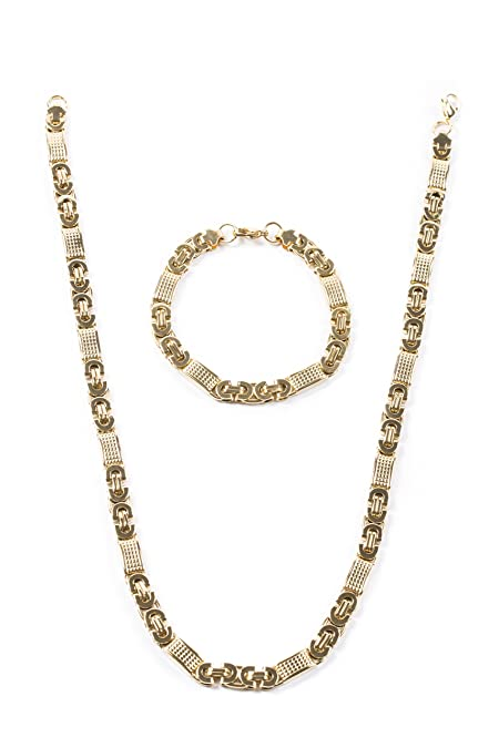 aurstore® Bijoux collar pulsera y cadena hombre mujer acero ...