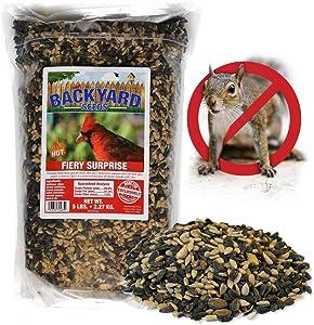 Backyard Seeds Fiery Surprise Bird Seed Blend 5 Pounds