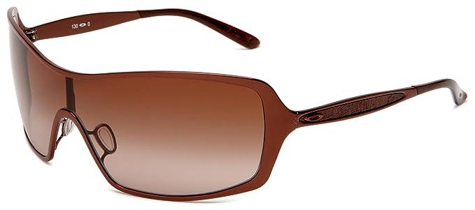 38593471d5d580 Oakley Women s Remedy OO4053-02 Wrap Sunglasses,Brunette Frame Dark Brown  Gradient Lens
