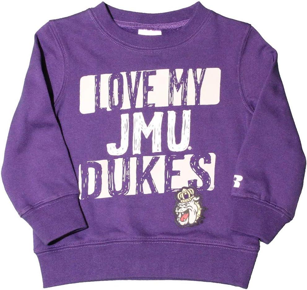 RussellApparel NCAA James Madison University Infants//Toddlers Fleece Crew Neck