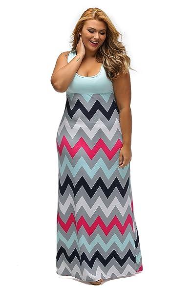 Chevron Maxi Dress Plus