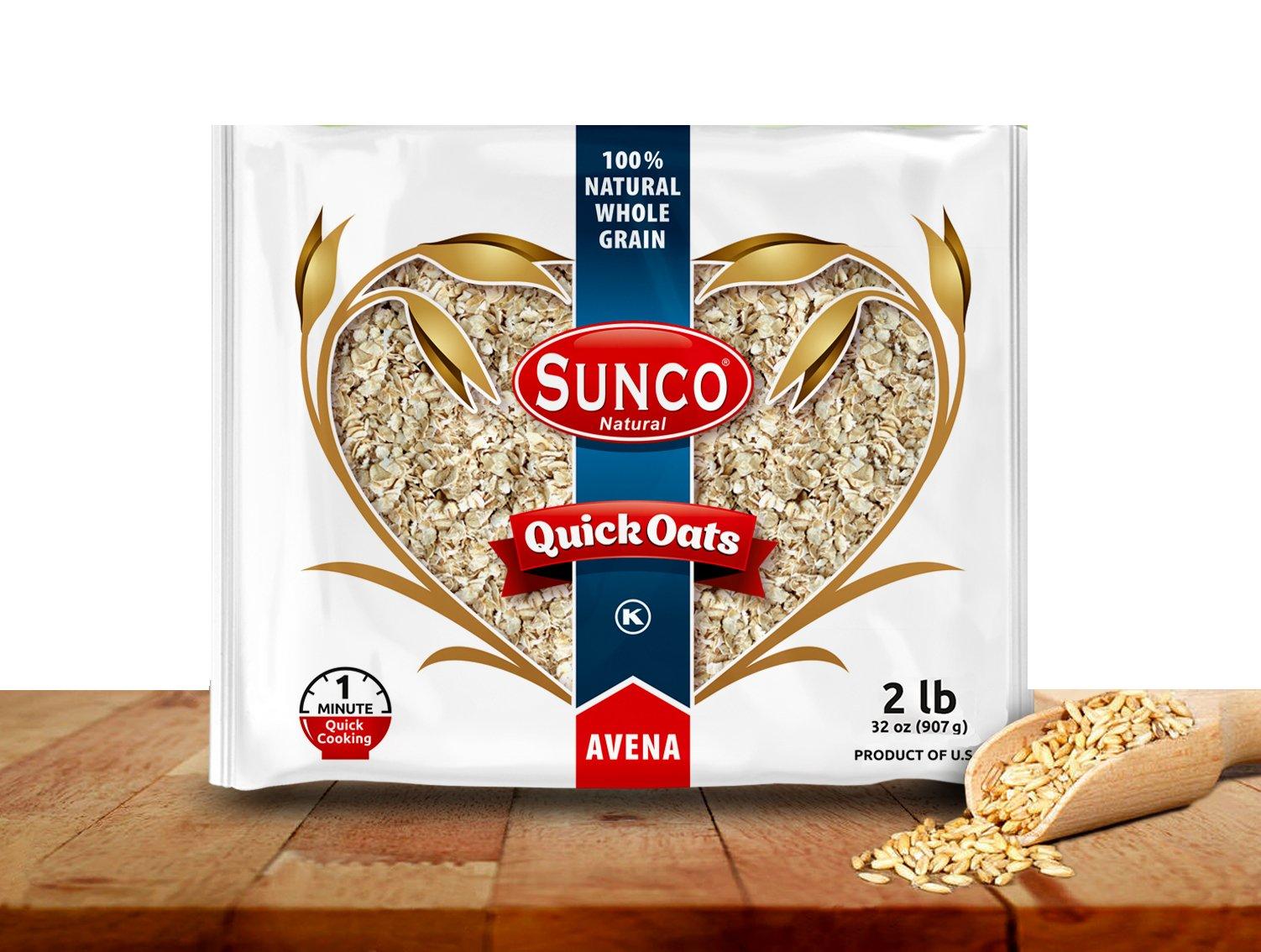SUNCO Quick Oats 2 lbs (32 oz), Pack of 2