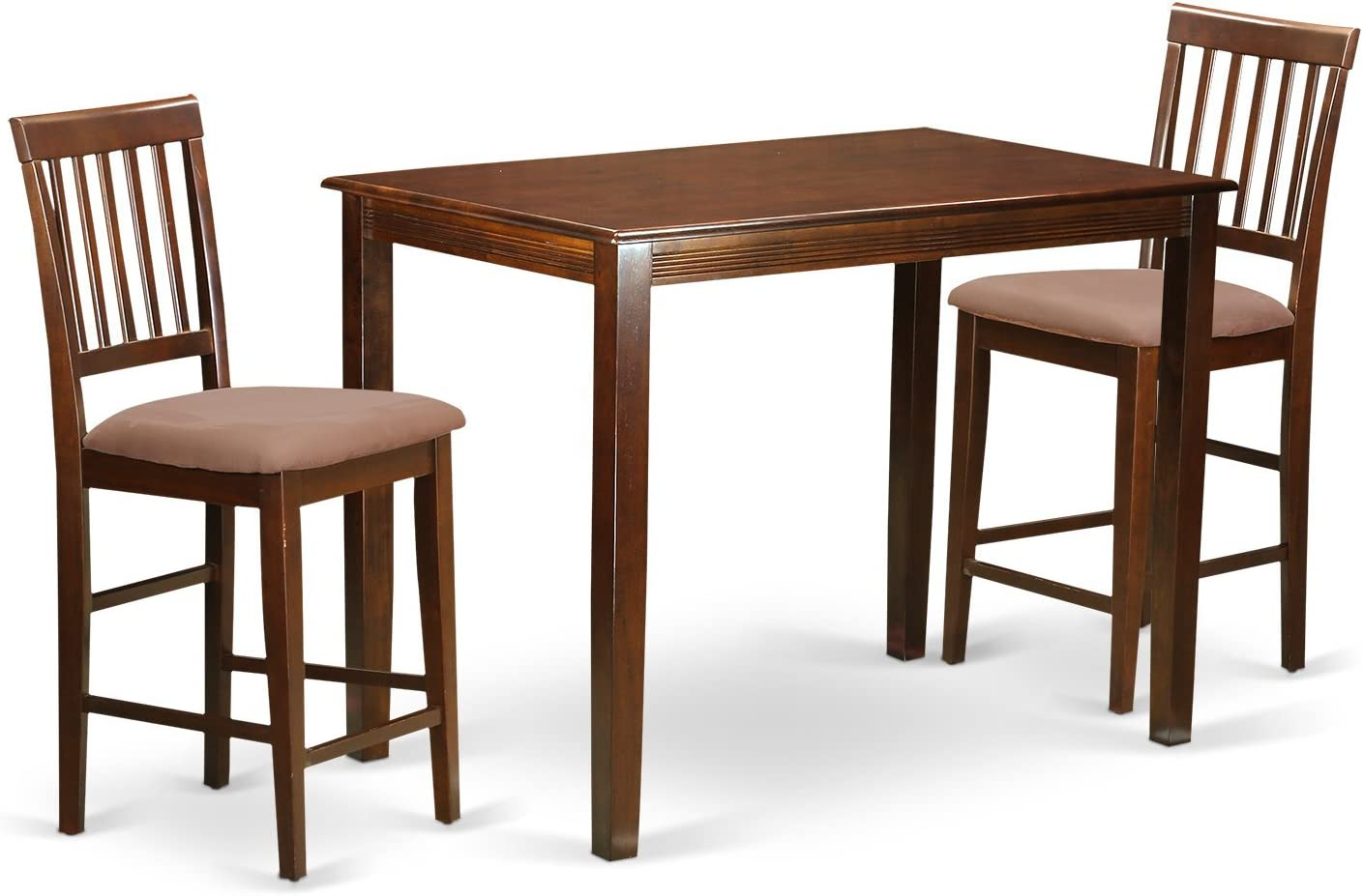 YAVN3-MAH-C 3 PC counter height Dining set – high top Table and 2 Kitchen Dining Chairs.