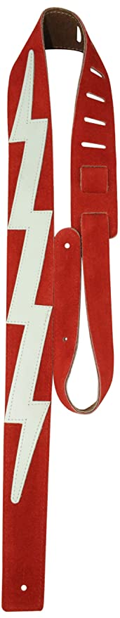 """Fits Guitars Electric Perris Leathers Suede Guitar Strap Soft 2/"""" Inch Leather Width /& Adjustable Length 44.5 to 53 Long Bass Acoustic Red"""