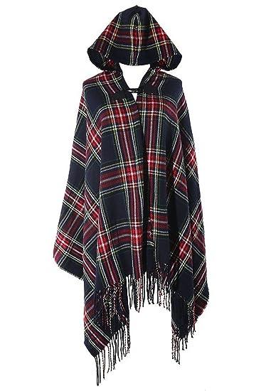82c6534d8426 Tailloday Femme Mélange de laine à capuche cape Blanket Manteau Couverture Cape  Poncho Cap Châle (A)  Amazon.fr  Vêtements et accessoires