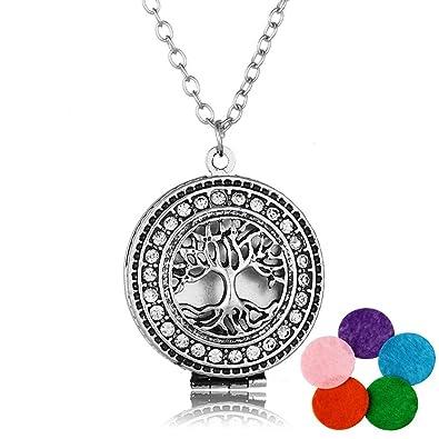 62430a42d2a Pendentif Arbre de Vie Bijoux pour Femmes Accessoires de Mode Chakra  Heeling Necklace