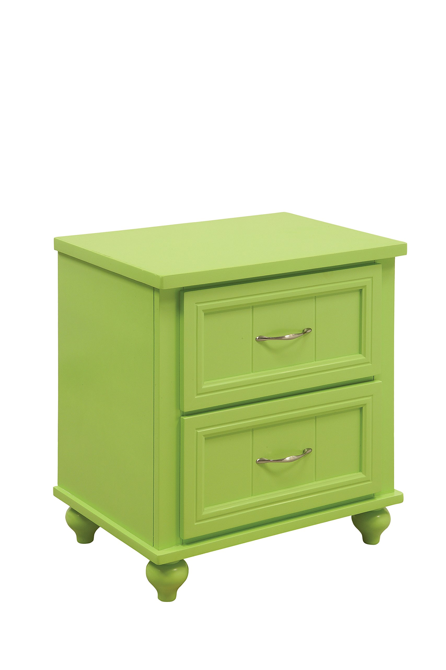 HOMES: Inside + Out Felix Transitional 2-Drawer Nightstand, Apple Green