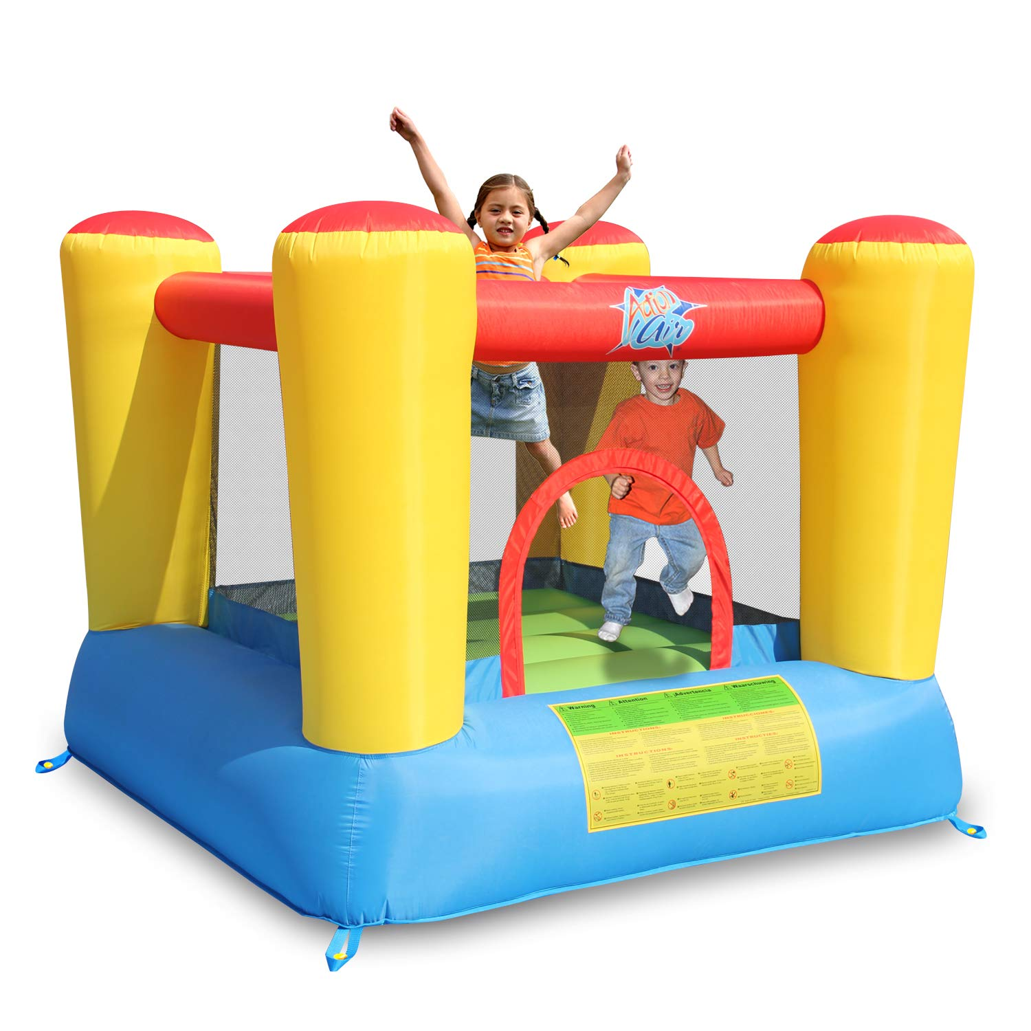 CDM product ACTION AIR Bounce House, Inflatable Bounce House with Blower, Kids Bouncy House for Outdoor and Indoor, Durable Sewn with Extra Thick Material, Idea for Kids (9420) big image