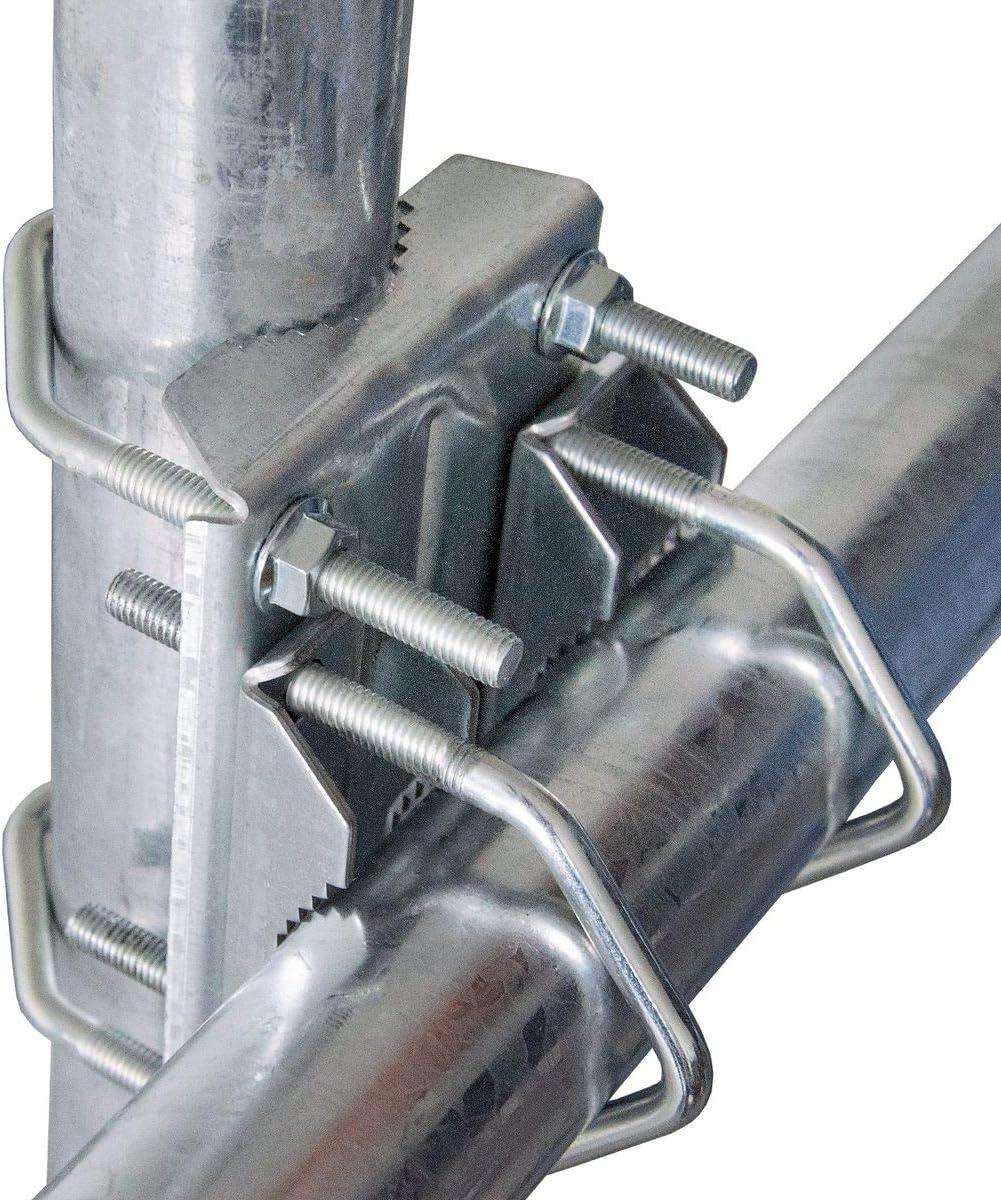 PremiumX SAT - Abrazadera doble para mástil, fijación en cruz, sistema de abrazaderas para tubos de hasta 63 mm