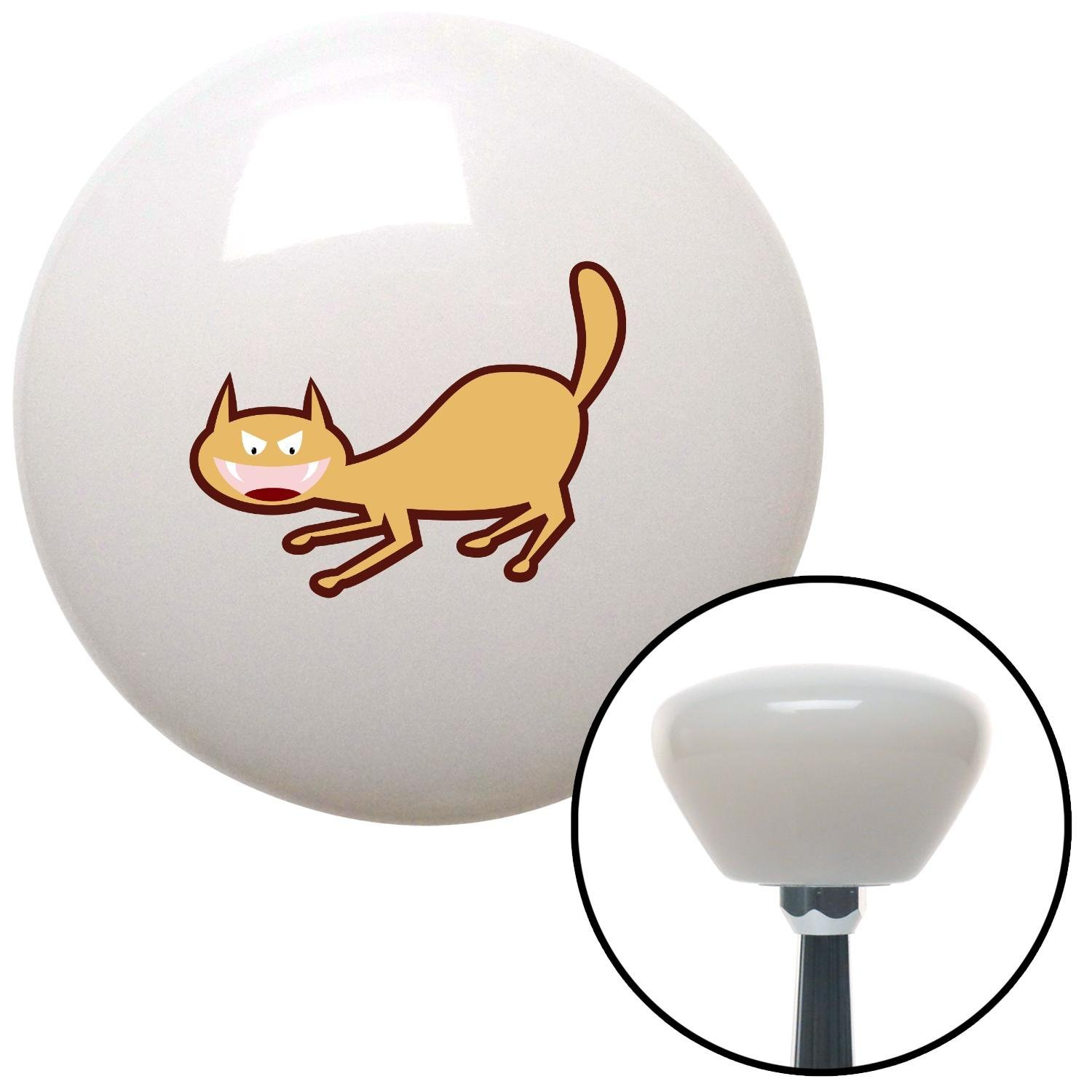 Cat Scary 2 American Shifter 151114 White Retro Shift Knob with M16 x 1.5 Insert