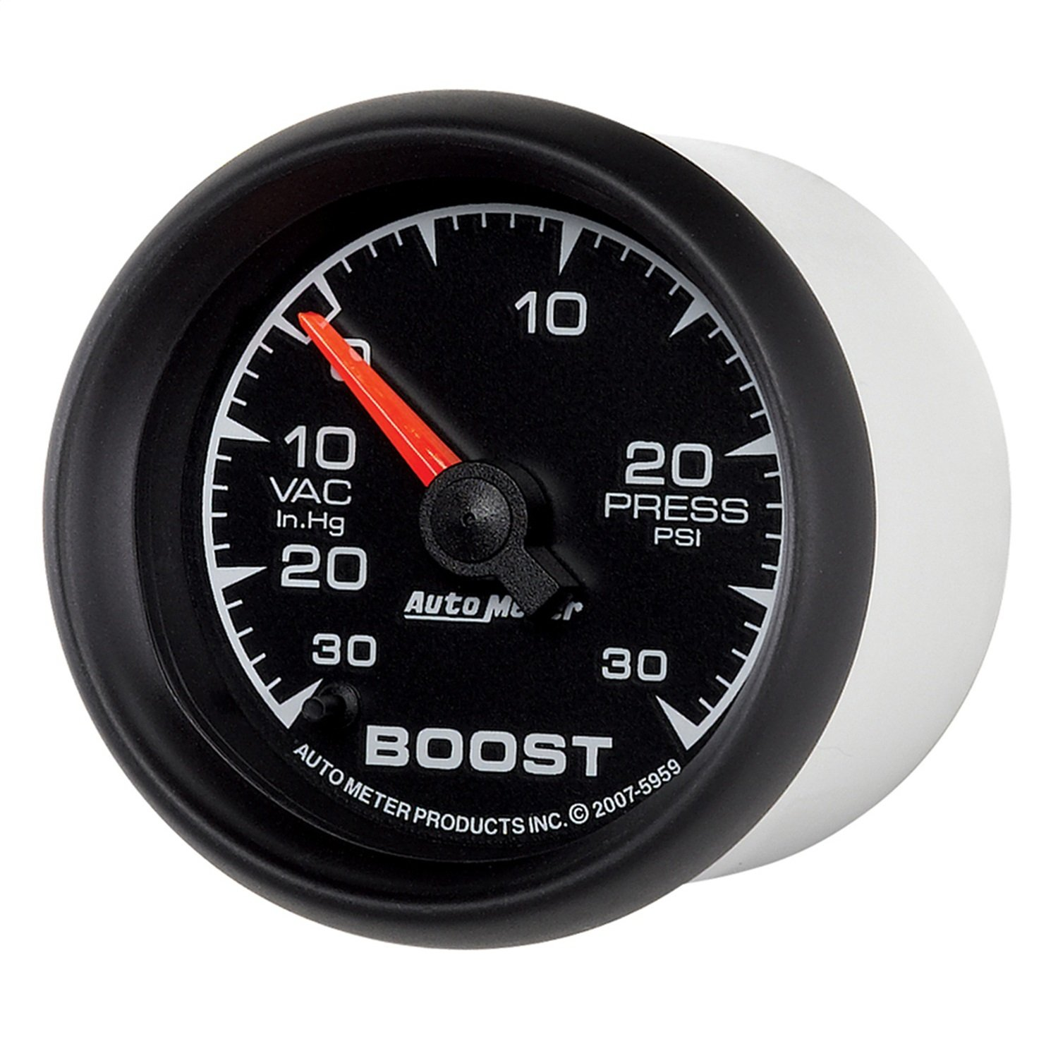 Hg//30 PSI Full Sweep Electric Vacuum//Boost Gauge Auto Meter 5959 ES 2-1//16 30 in