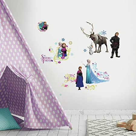 RoomMates Frozen Peel U0026 Stick Glitter Wall Decals