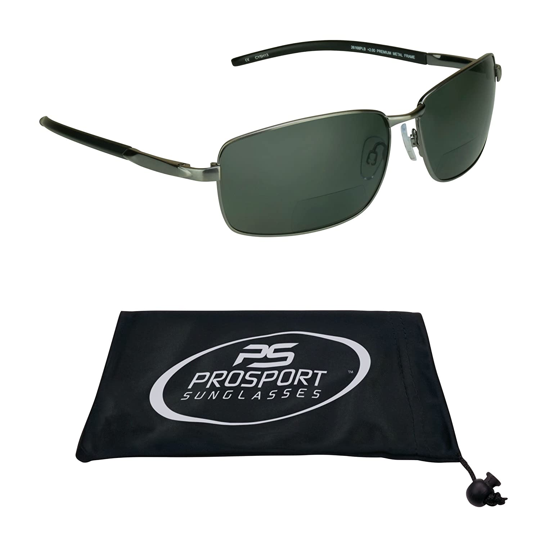TALLA 3. proSPORTsunglasses Gafas De Sol Polarizadas Bifocales Con Lentes Polarizadas Premium Tac Y Duradero Níquel Marcos De Metal De Alta. De Los Hombres Medio