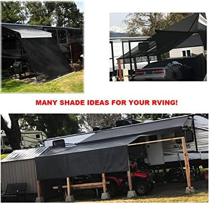 Shadeidea RV Sun Shade Screen for Awning 9 X 17 5 Black Mesh Sunshade Motorhome Camping Trailer UV Sunblocker Canopy Sunscreen Offer 3 Years Warranty