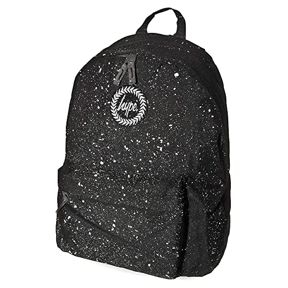 266a5eeaf4f Just Hype Backpack Bag - Paint Splash Design Black   White One Size ...