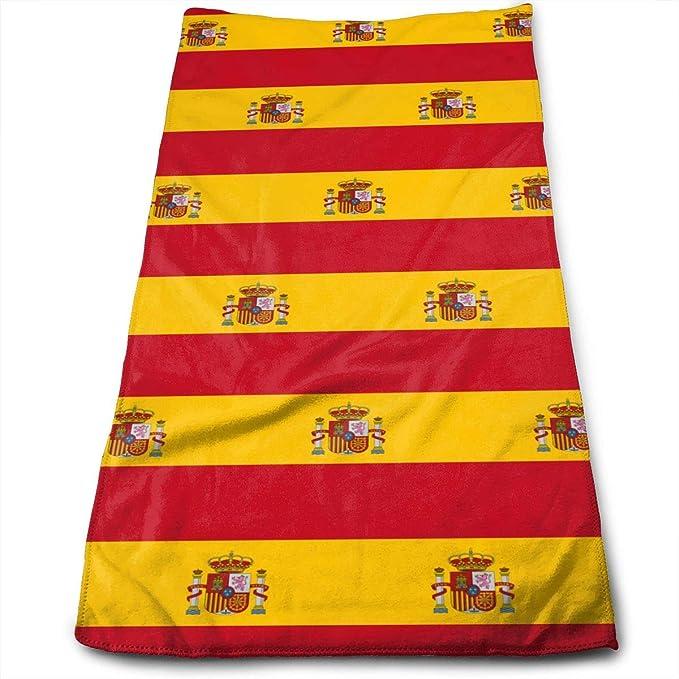 Hipiyoled Patrón de Bandera de España Toalla de Microfibra Multiusos Toallas de baño Toallas de Mano Toallas Toallas Baño 12