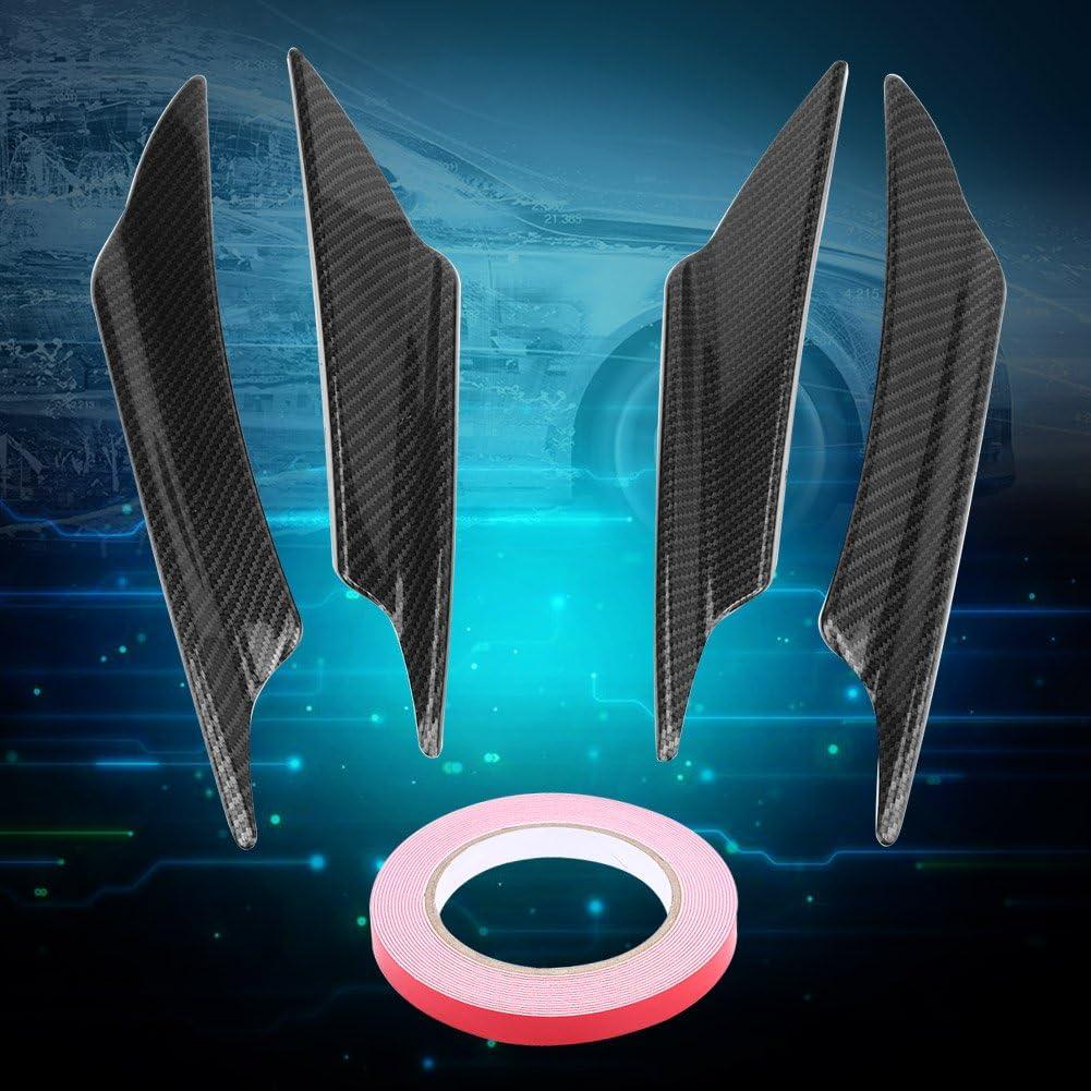 Black Akozon Front Bumper Spoilers 4pcs Universal Car Body Spoiler Front Bumper Lip Splitter Fins Trim