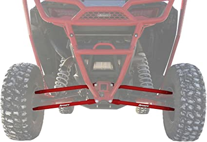 Strong Lower Rear Radius Bars Rods Polaris XP1000 RZR4 2014-2016 Bars Red