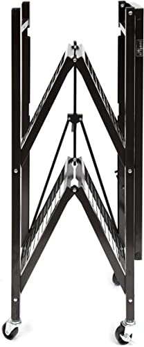 Origami R3-06W Rack with Caster, 3-Feet, Black