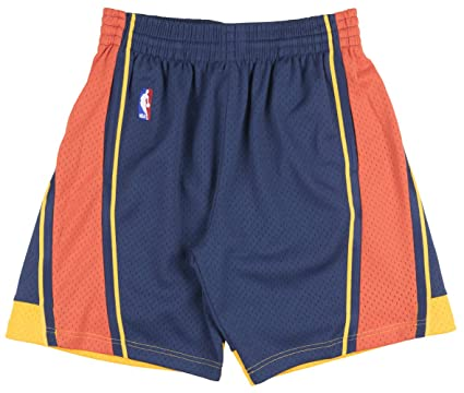 reputable site 0d7fd 4dc7b Golden State Warriors NBA Mitchell   Ness Navy 2009-10 Throwback Soul Swingman  Shorts For