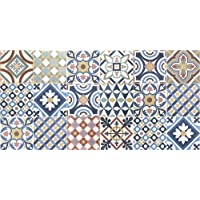 VINILIKO Gimaraes Alfombra de Vinilo, Multicolor, 50x100
