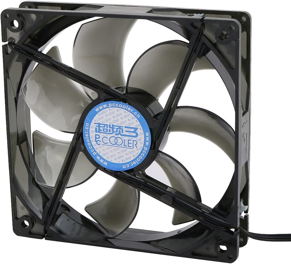 uxcell DC12V 1200RPM Red LED Light 19dBA Mute Fan for PC Cases CPU Cooler Radiator 12cm w Screw