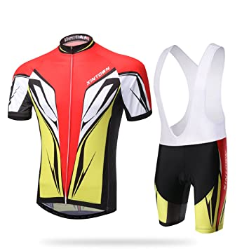 Hebike Red And Blue Mens Breathable Cycling Short Sleeve Jersey 3D Padded  Shorts Set Outfit  f4f6f273c