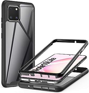AROYI Coque Samsung Galaxy Note 10 Lite/Galaxy A81,Transparente Silicone Bumper Housse TPU PC Antichoc Double Protecteur Case pour Samsung Galaxy Note ...