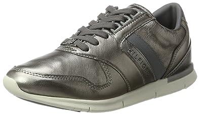 S1285kye 1z, Sneakers Basses Femme, Argent (Dark Silver), 38 EUTommy Hilfiger