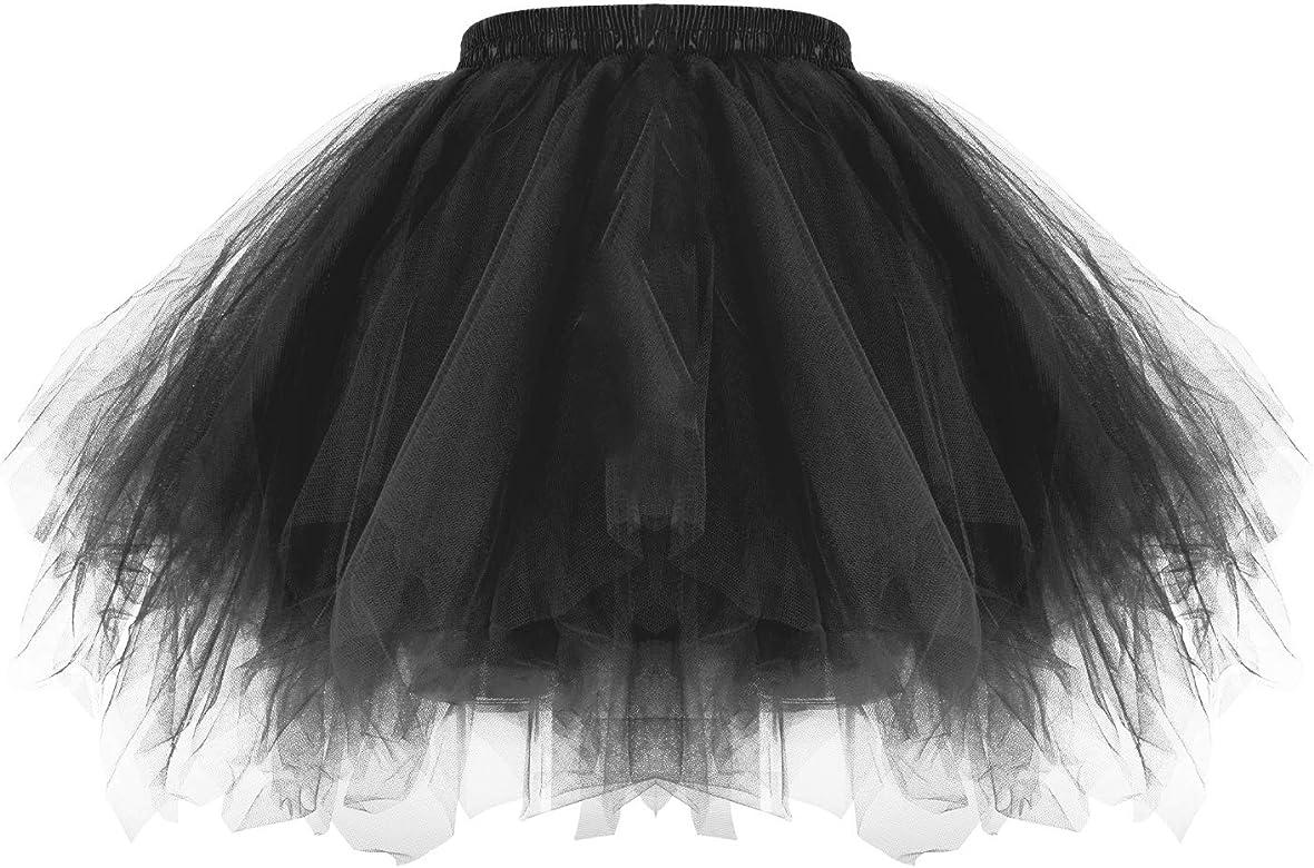 MeOkey 3 Capas Tul Burbujas Ballet Falda Asimetricas Danza Tutú ...