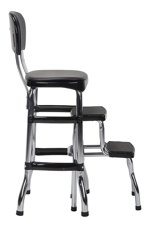 Amazon.com: Cosco Black Retro Counter Chair/Step Stool: Home Improvement