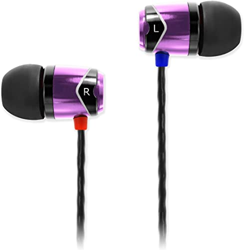 SoundMAGIC E10 Earphones HiFi Stereo Wired Noise Isolating in-Ear Earbuds Powerful Bass Sport Headphones Purple