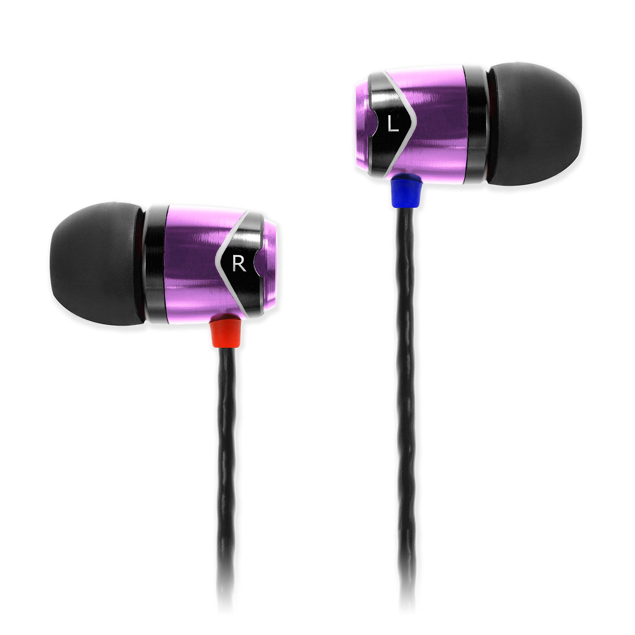 SoundMAGIC E10 Auriculares intrauditivos con aislamiento de ruido (Púrpura)