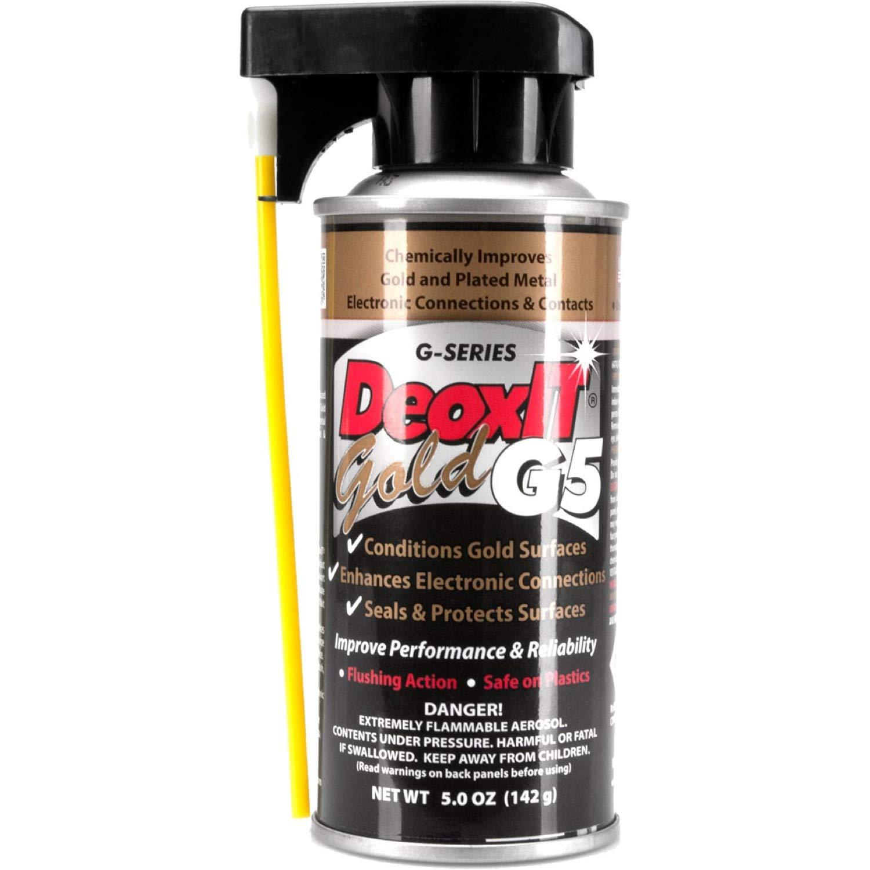 Hosa G5S-6 CAIG DeoxIT GOLD Contact Enhancer 5% Spray, 5 oz.