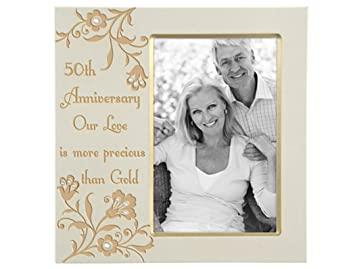 malden 50th anniversary our love is more precious than gold frame 4 by 6