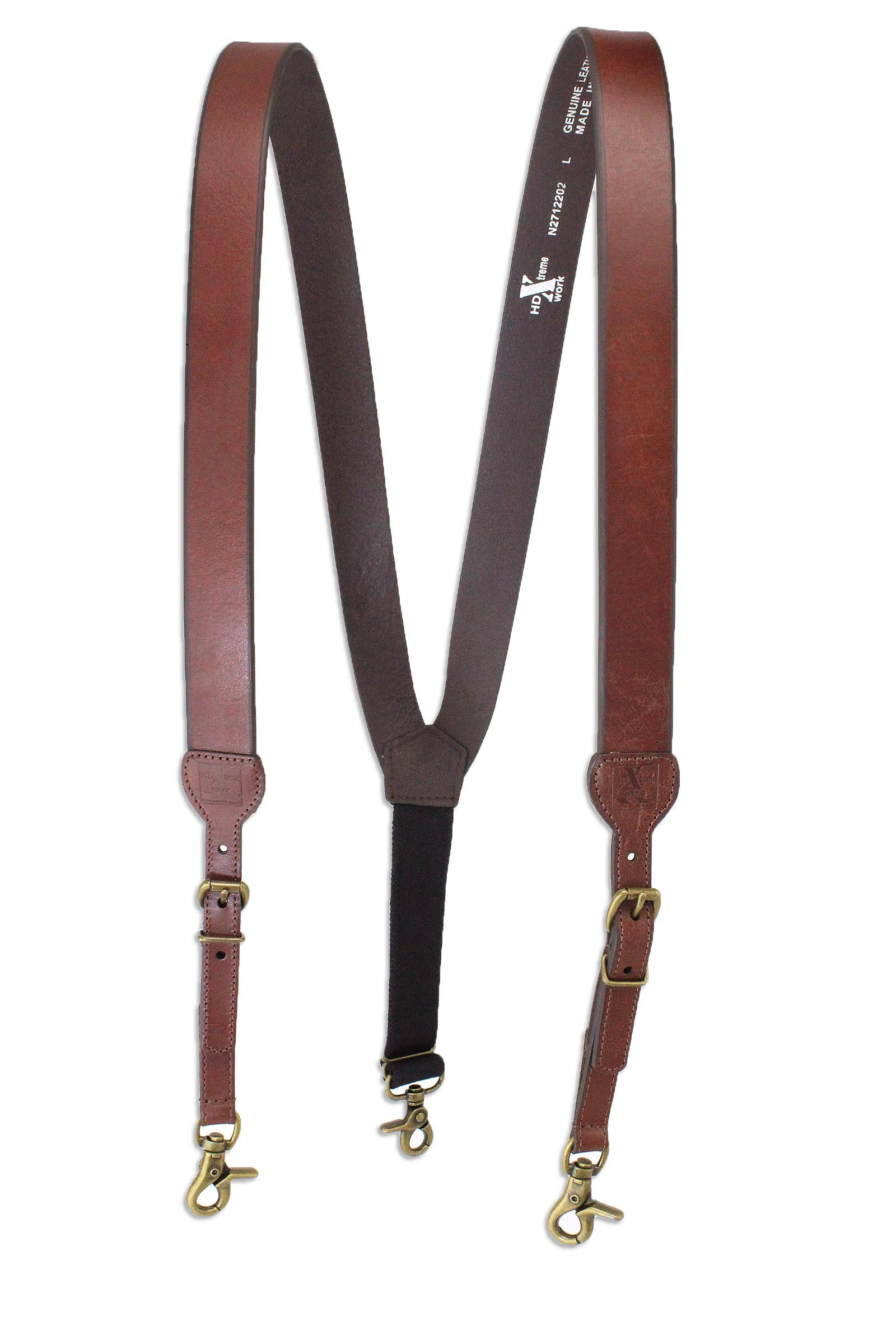 M & F Western Men's Nocona Hdx Smooth Leather Suspenders (X-Large, Brown)