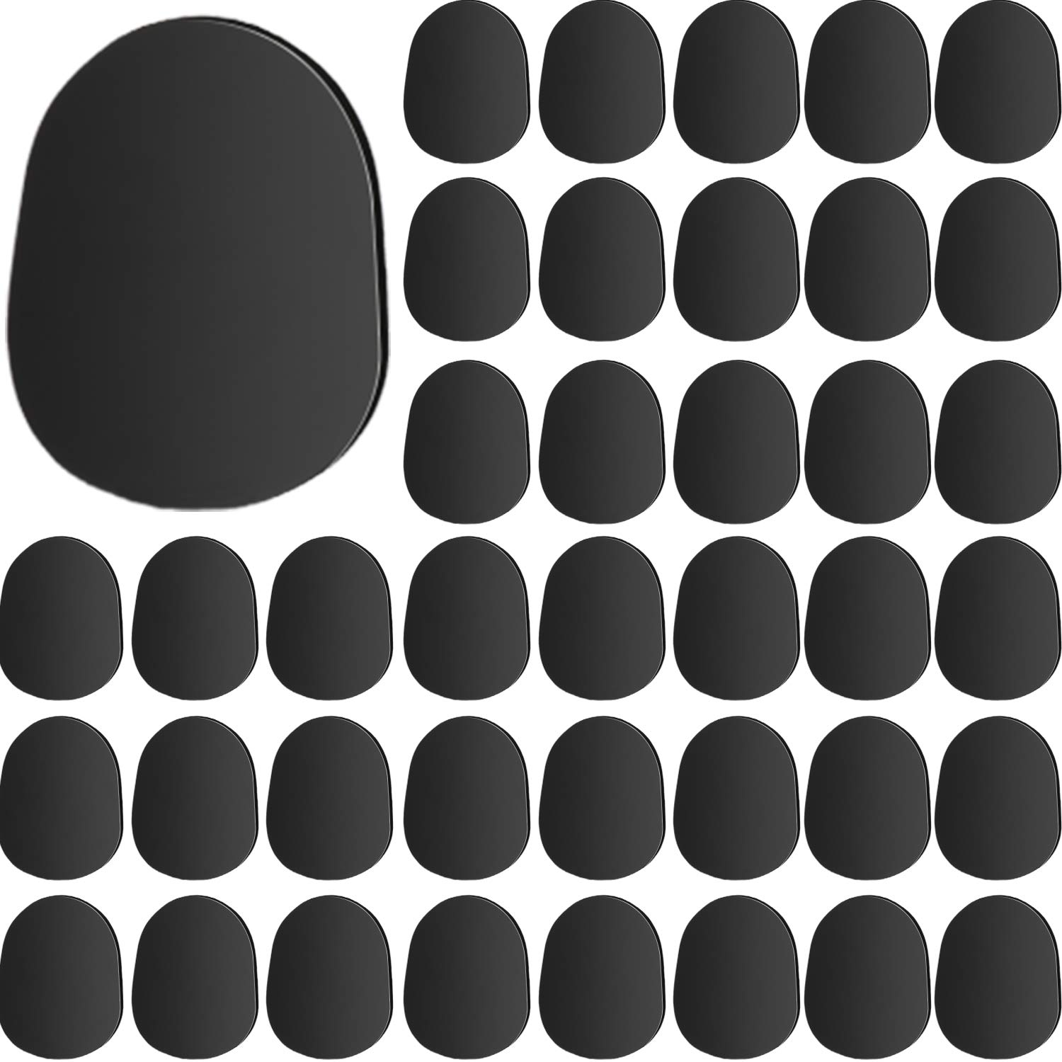 Tatuo 40 Pieces Black Saxophone and Clarinet Mouthpiece Cushions Sax Mouthpiece Patches Pads Cushions 0.8mm Thick Strong Adhesive