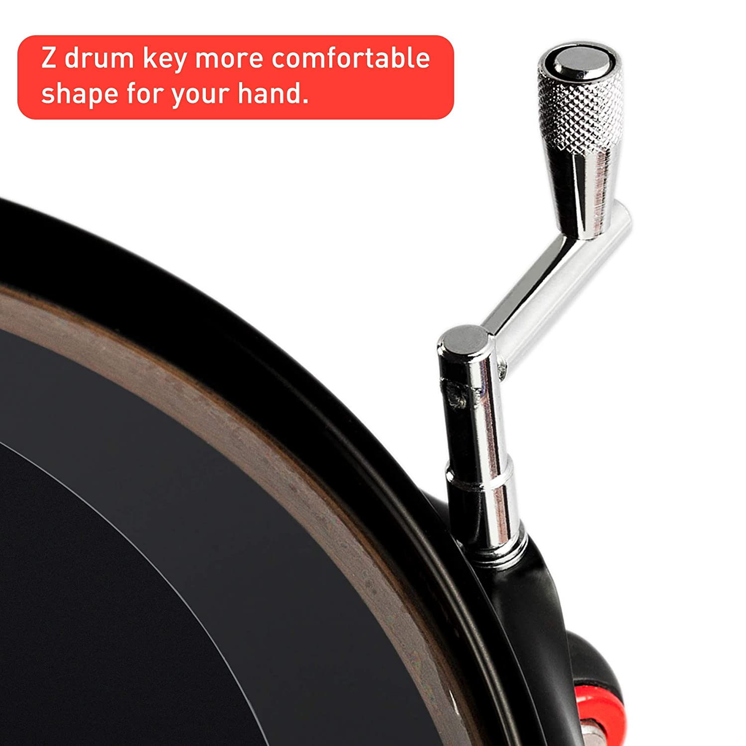 with a Continuous Motion Speed Drum Key,Drum Tuner,Universal Drum Tuning Key ZYC Drum Key 3-Pack,Standard Drum Keys
