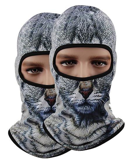 Pack of 2 Polyester Bandana Face Riding Motorcycle Mask Animal Ski ... e8048ef34c32