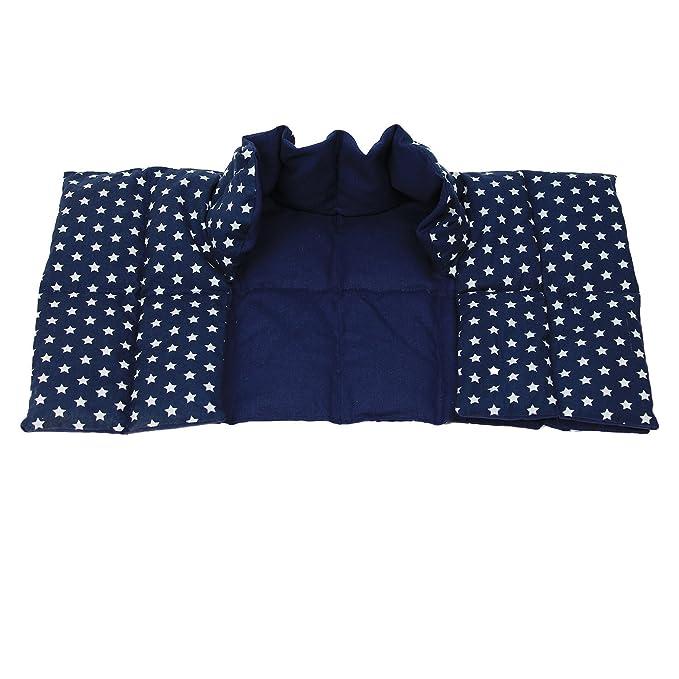 Cojin termico Grande Tipo Collarín Para Cuello y Hombros - Bolsa Térmica - Paquete Térmico - Almohada de Granos / Estrellas Azul: Amazon.es: Bebé