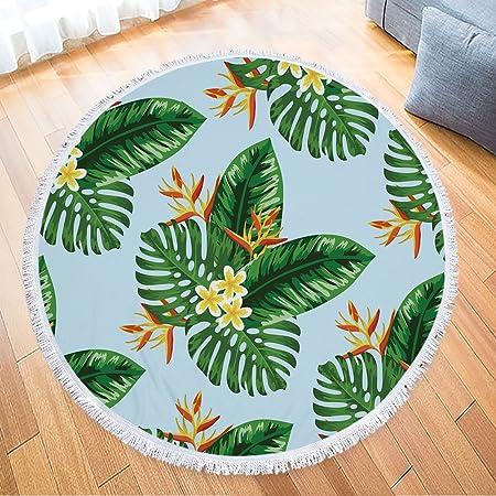 ISAAC ENGLAND Flor Blanca Hoja Verde Impreso Microfibra ...