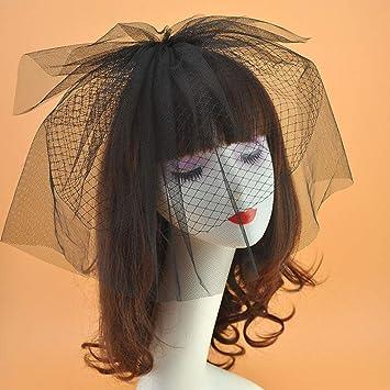 JasmineLi Superior Mesh Bowknot Derby Hat Headband Hair Clips Elegant Veil Pillbox Hat Ornament