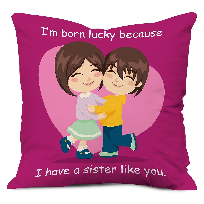 Amazon.com: indibni Sister Gifts - Lucky to Have Sister Like You ...