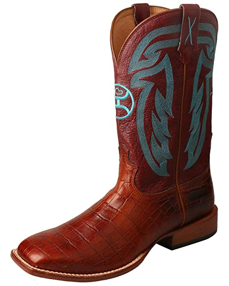 1bc006194e12f Amazon.com: Twisted X Men's Hooey Western Boot Wide Square Toe ...