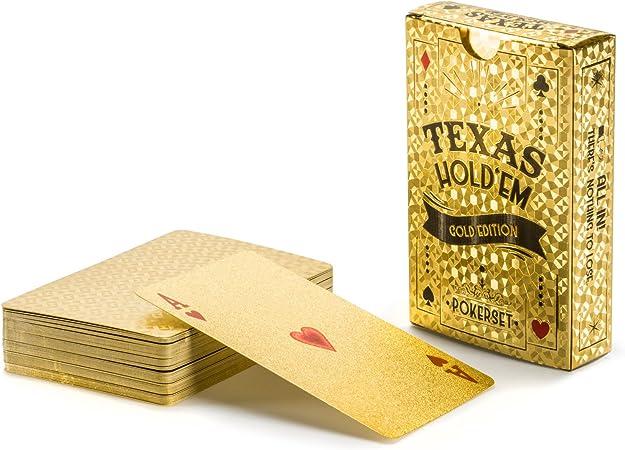 Gold Jeu de Cartes Luxe poker cartes en plastique pour CASINO /& Poker PVC Plastique