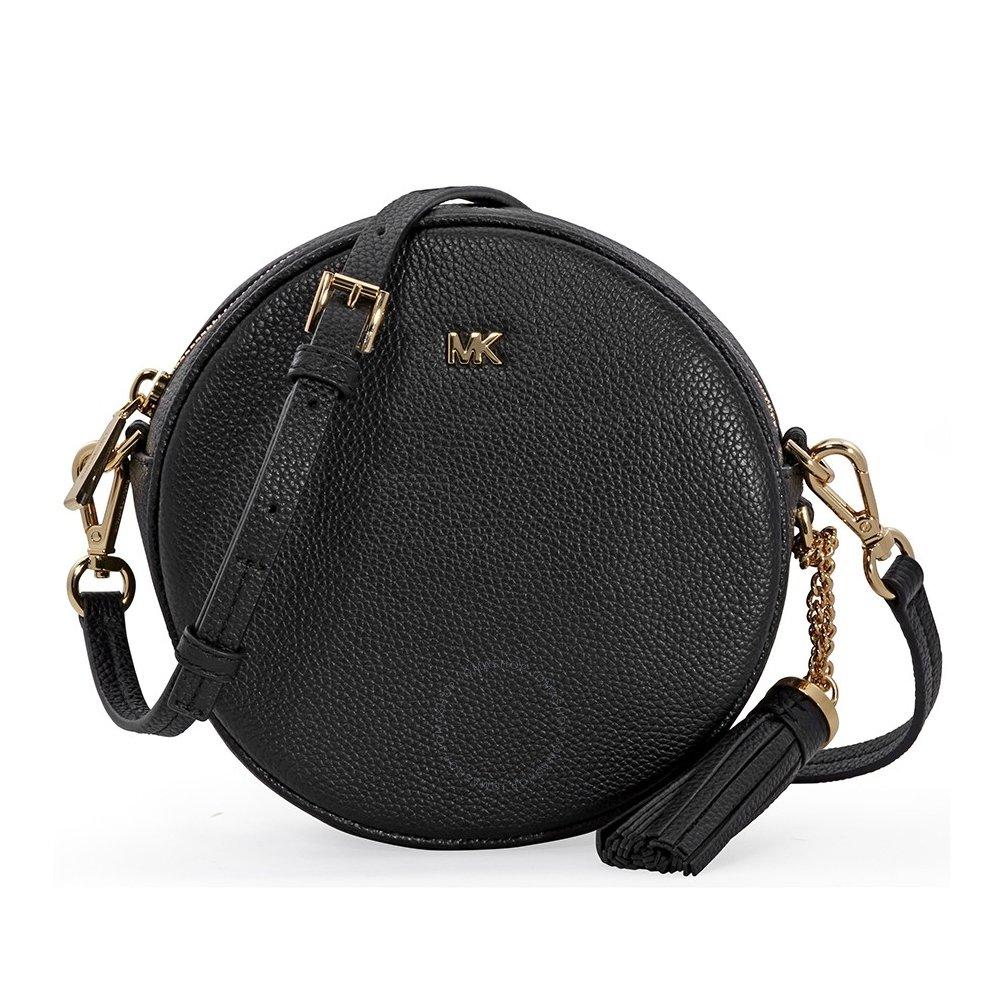 1667730eb3ff Amazon.com  Michael Kors Mercer Medium Canteen Crossbody Bag- Black   Clothing