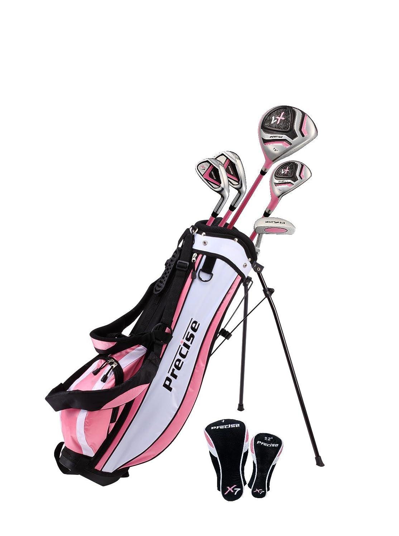 トップパフォーマンスプレミアムジュニアゴルフクラブセットfor 9 – 12歳、右、ボーイズ、ガールズ手&左 B07CCYX45T ピンク RH